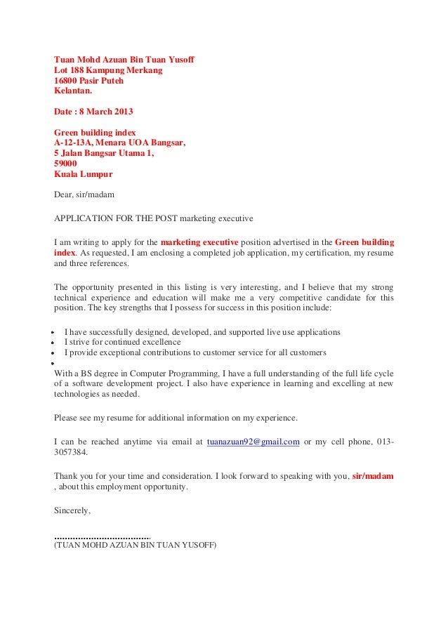Tuan Mohd Azuan Bin Tuan YusoffLot 188 Kampung Merkang16800 Pasir PutehKelantan.Date : 8 March 2013Green building indexA-1...
