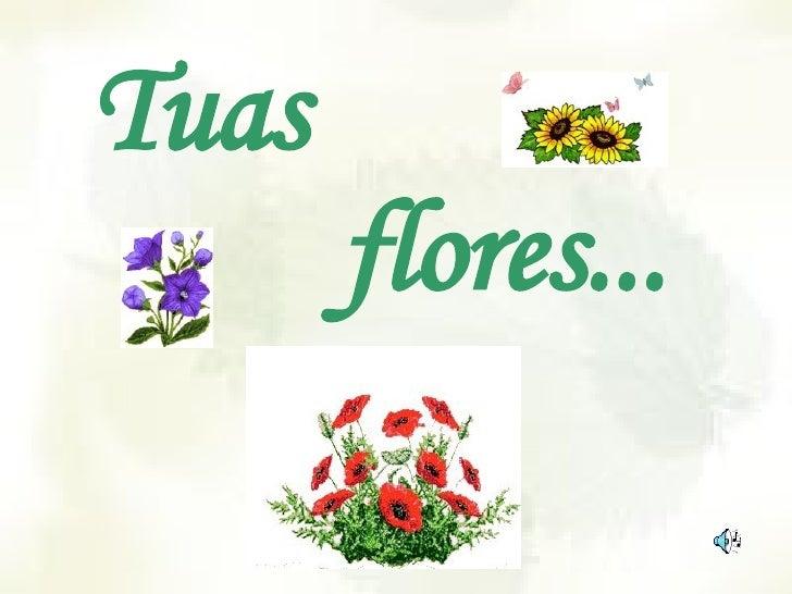 Tuas    flores...