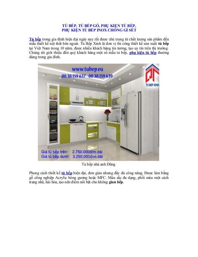 TỦ BẾP, TỦ BẾP GỖ, PHỤ KIỆN TỦ BẾP, PHỤ KIỆN TỦ BẾP INOX CHỐNG GỈ SÉT Tủ bếp trong gia đình hiện đại ngày nay rất được chú...