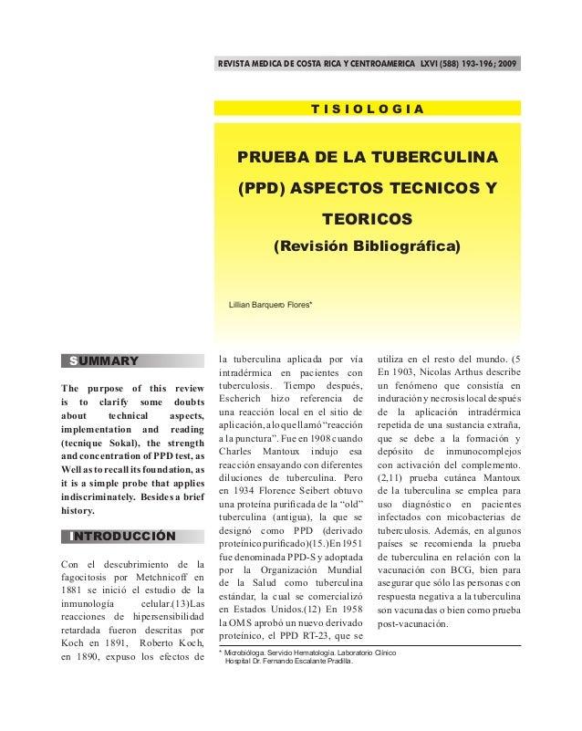 REVISTA MEDICA DE COSTA RICA Y CENTROAMERICA LXVI (588) 193-196; 2009                                                     ...