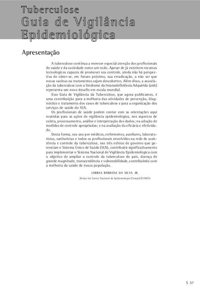 Tuberculose                                                        Jornal Brasileiro de Pneumologia 30(Supl 1) – Junho de ...