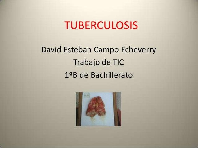 TUBERCULOSISDavid Esteban Campo EcheverryTrabajo de TIC1ºB de Bachillerato