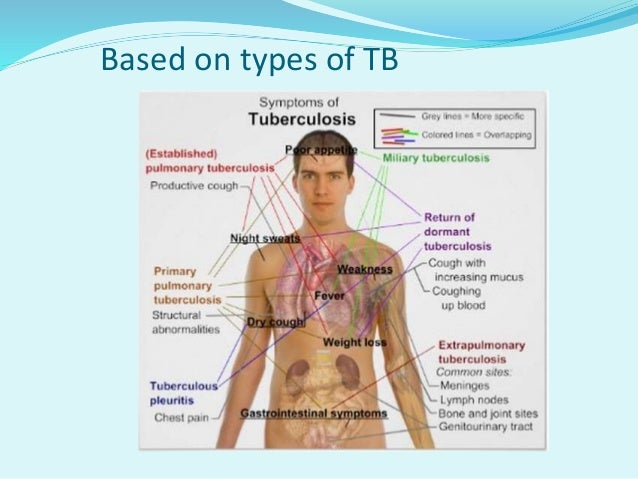 Types A. Pulmonary TB :- 1. Primary Tuberculosis :-  The infection of an individual who has not been previously infected ...