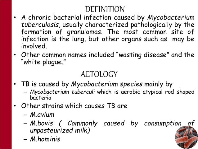Tuberculoosis and antitubercular drugs Slide 2