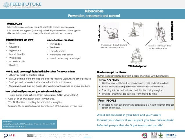 Tuberculosis Prevention, treatment and control TUBERCULOSIS Tuberculosis is a serious disease that affects animals and hum...
