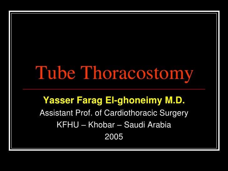 Tube thoracostomy