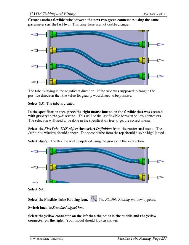 Tubing and piping tutorial catia.