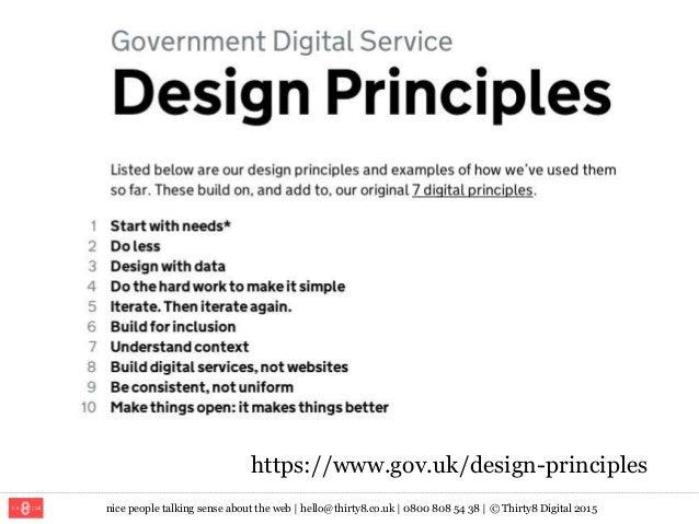 nice people talking sense about the web   hello@thirty8.co.uk   0800 808 54 38   © Thirty8 Digital 2015 https://www.gov.uk...