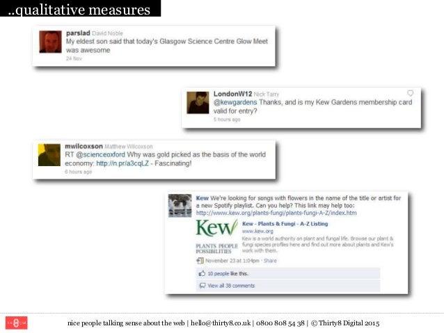 nice people talking sense about the web   hello@thirty8.co.uk   0800 808 54 38   © Thirty8 Digital 2015 ..qualitative meas...