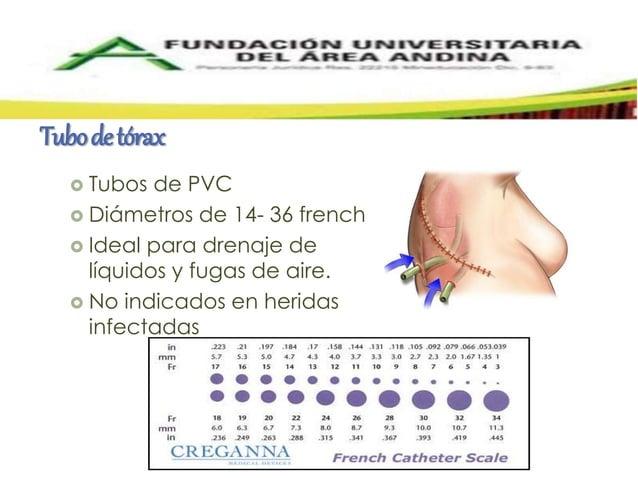Tubo de tórax   Tubos de PVC   Diámetros de 14- 36 french   Ideal para drenaje de  líquidos y fugas de aire.   No indi...