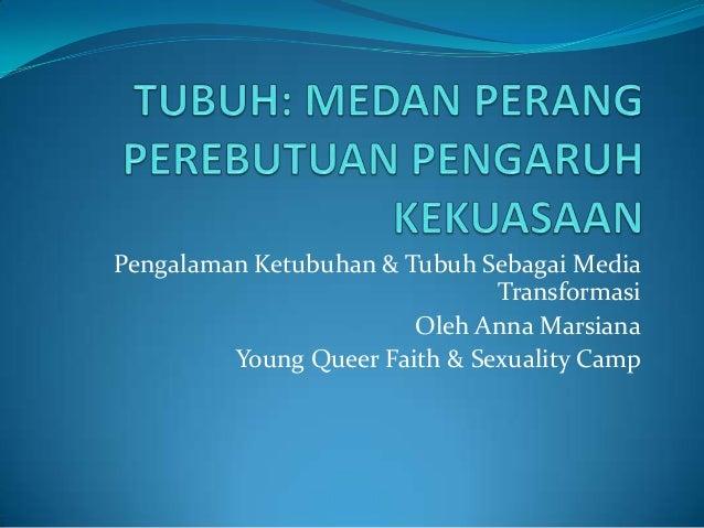 Pengalaman Ketubuhan & Tubuh Sebagai Media Transformasi Oleh Anna Marsiana Young Queer Faith & Sexuality Camp