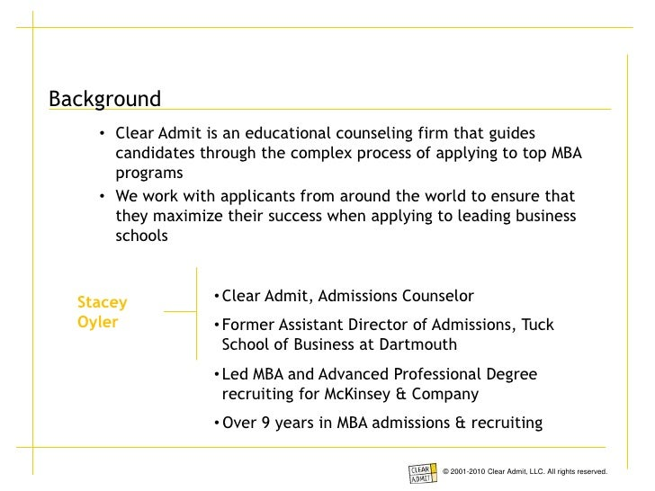 Tuck mba application essays