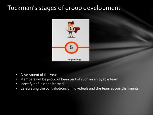 tuckmans model and team work essay To conclude, tuckmans group development model has helped and guided many in today's world, especially in the business world this model allows the management of companies to have a better understanding of how teamwork should be and what to do when problems within groups arise.