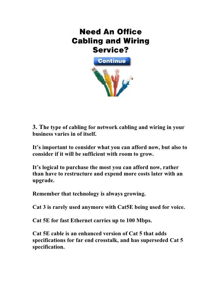 Tucson Network Cabling 6 Point Buyers Guide 877-953-3033