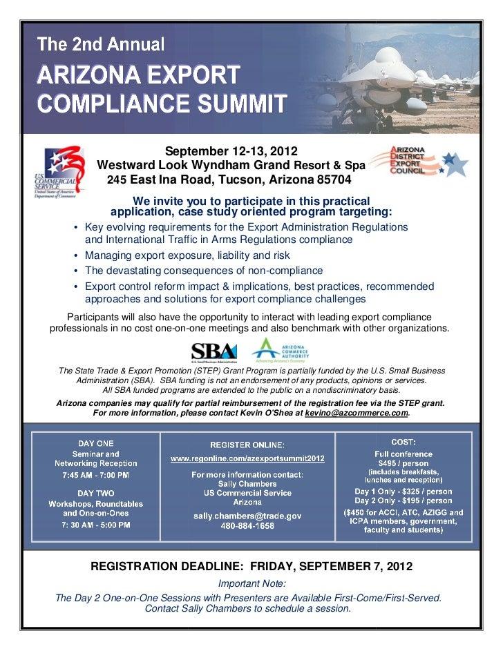 September 12                                  12-13, 2012            Westward Look Wyndham Grand Resort & Spa             ...