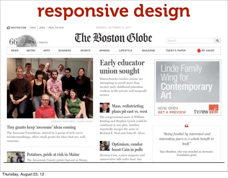 responsive designThursday, August 23, 12