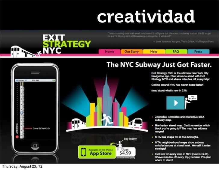 creatividadThursday, August 23, 12