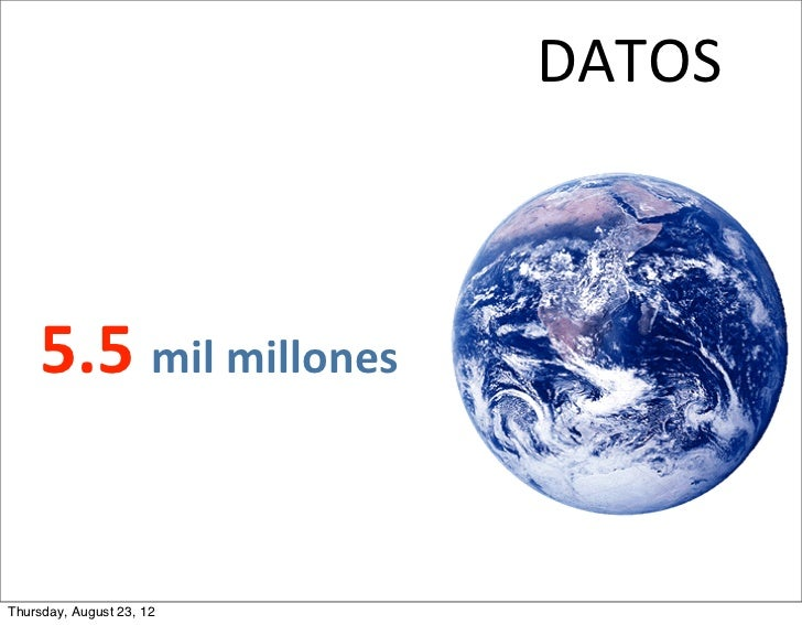 DATOS     5.5 mil millonesThursday, August 23, 12