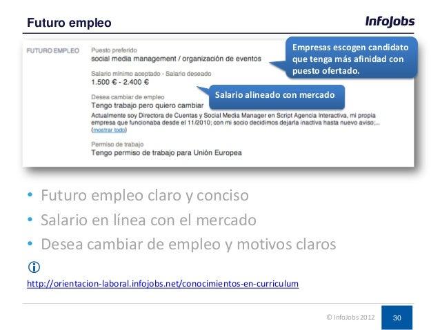 30 • Futuro empleo claro y conciso • Salario en línea con el mercado • Desea cambiar de empleo y motivos claros  http://o...