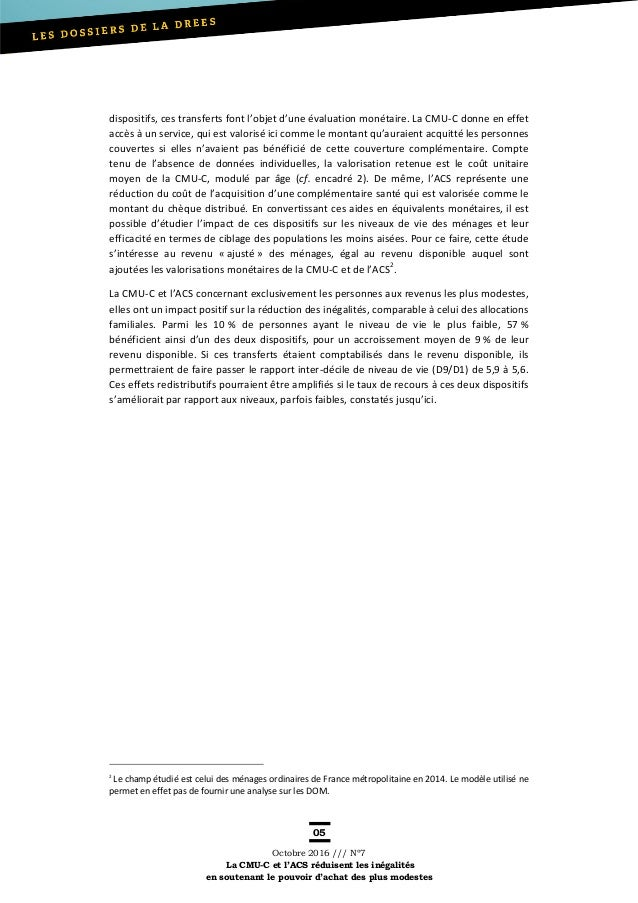 Dossier DREES-CMU-C -ACS