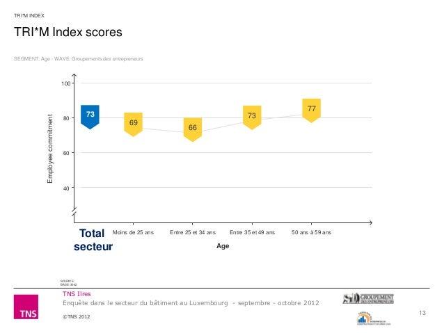 TRI*M INDEXTRI*M Index scoresSEGMENT: Age - WAVE: Groupements des entrepreneurs                                    100    ...