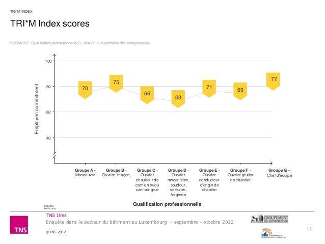 TRI*M INDEXTRI*M Index scoresSEGMENT: Qualification professionnelle(1) - WAVE: Groupements des entrepreneurs              ...