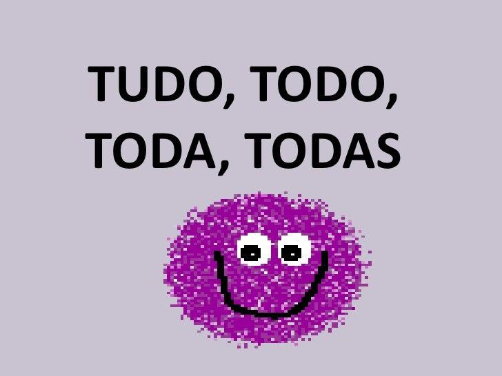 TUDO, TODO, TODA, TODAS<br />