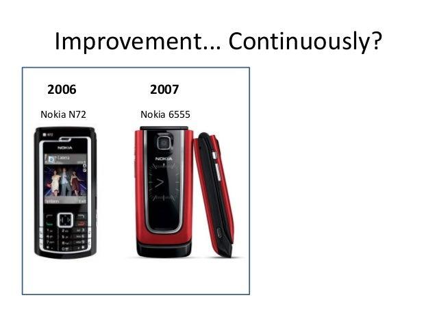 Improvement... Continuously? 2006  2007  Nokia N72  Nokia 6555