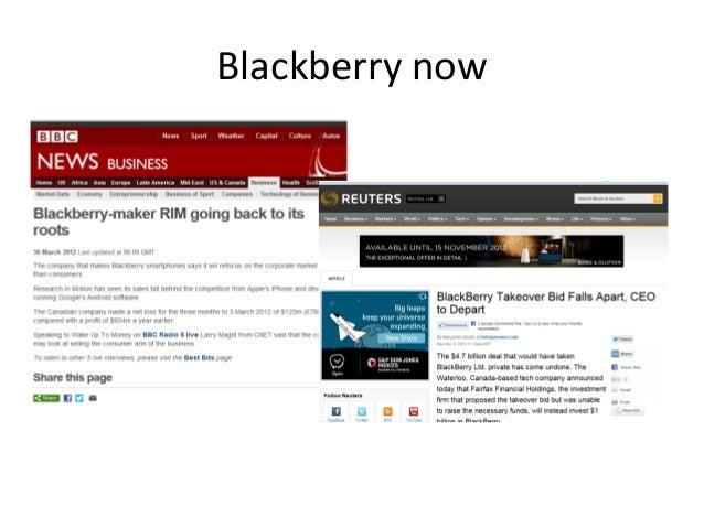 Blackberry now