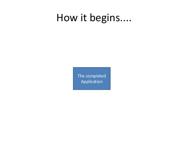 How it begins....  The completed Application