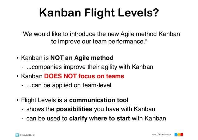 FLIGHT LEVELS OF KANBAN (KLAUS LEOPOLD) - LKCE13 Slide 3