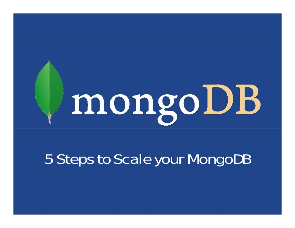 5 Steps to Scale your MongoDB
