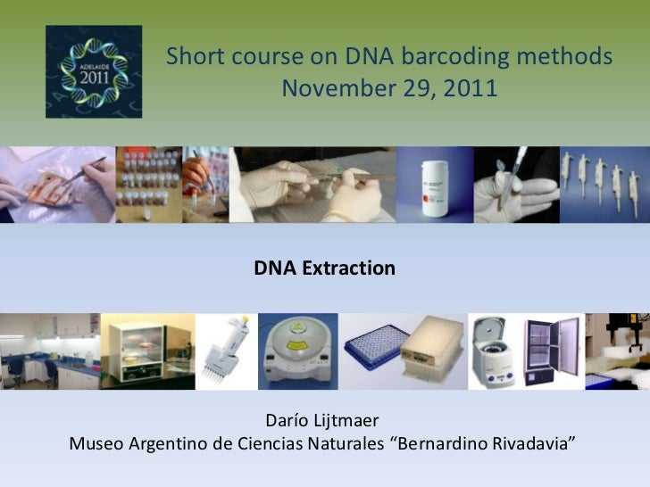 Short course on DNA barcoding methods                     November 29, 2011                     DNA Extraction            ...