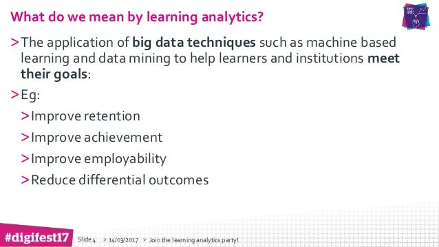 Harnessing the Potential of Learning Analytics Across the Institution