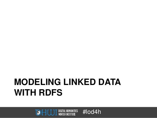MODELING LINKED DATAWITH RDFS            #lod4h