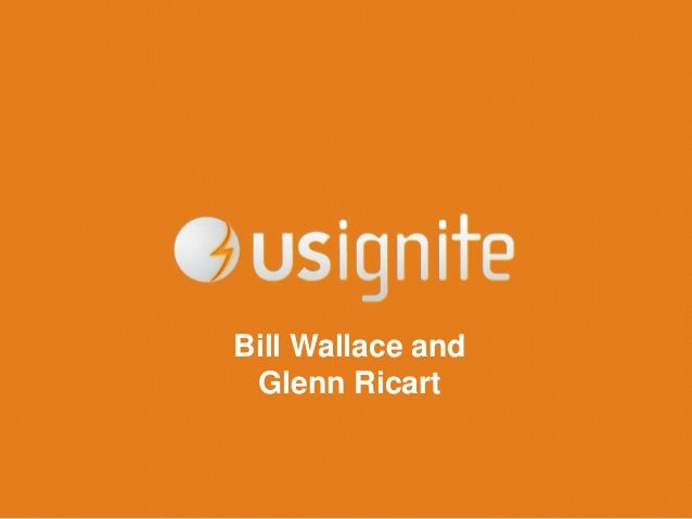 Bill Wallace and Glenn Ricart