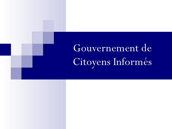 Gouvernement de Citoyens Informés