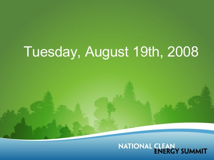 Tuesday, August 19th, 2008