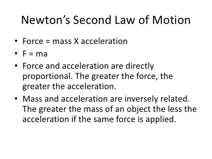 Balanced and Unbalanced Forces – Force Mass X Acceleration Worksheet