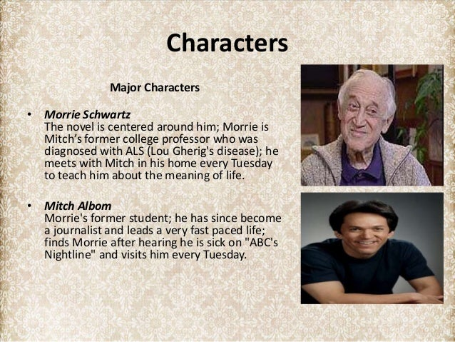 summary of tuesdays with morrie Welcome to the litcharts study guide on mitch albom's tuesdays with morrie created by the original team behind sparknotes, litcharts are the world's best literature guides get the entire tuesdays with morrie litchart as a printable pdf my students can't get enough of your charts and their .