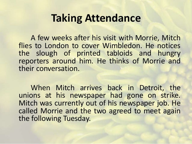 tuesdays with morrie family