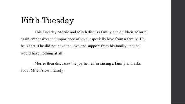 tuesday with morrie reflections Reflection tuesdays with morrie was about a kid that had one special professor that he became really close with got sick and had tuesday's with morrie reflection.
