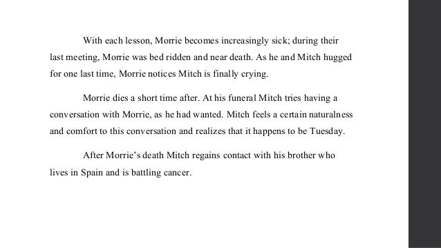 metaphors in tuesdays with morrie