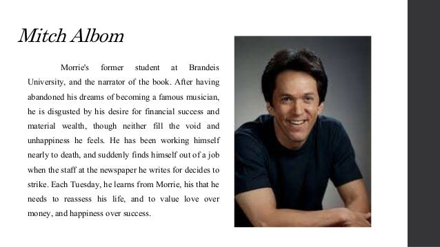similarities and differences between mitch morrie relationship