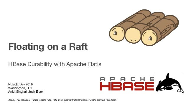 Floating on a Raft HBase Durability with Apache Ratis NoSQL Day 2019 Washington, D.C. Ankit Singhal, Josh Elser Apache, Ap...