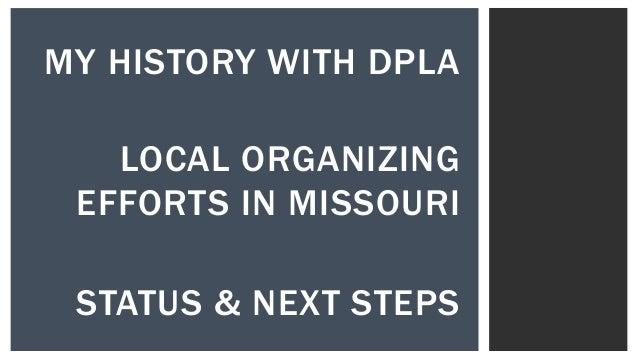 Organizing a DPLA Service Hub in Missouri Slide 2