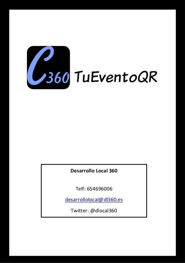 Desarrollo Local 360 Telf: 654696006 desarrollolocal@dl360.es Twitter: @dlocal360