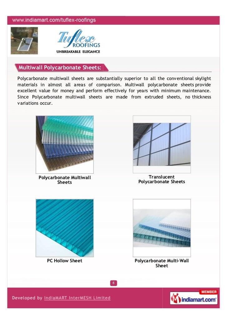 Tuflex Roofings Mumbai Polycarbonate Sheets