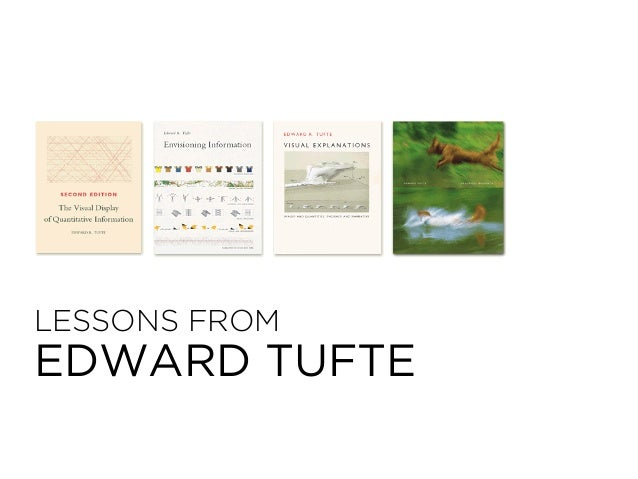 LESSONS FROM EDWARD TUFTE