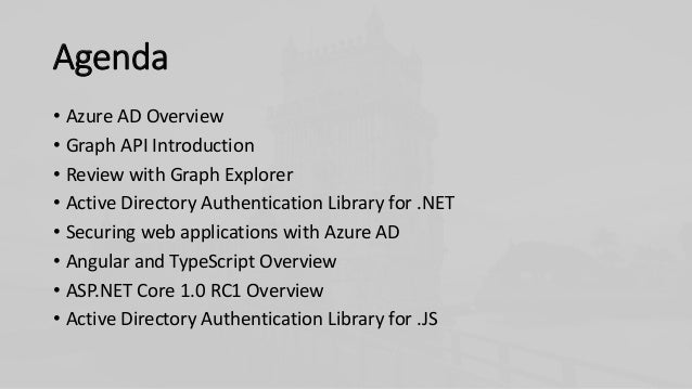 Developing Apps with Azure AD Slide 3